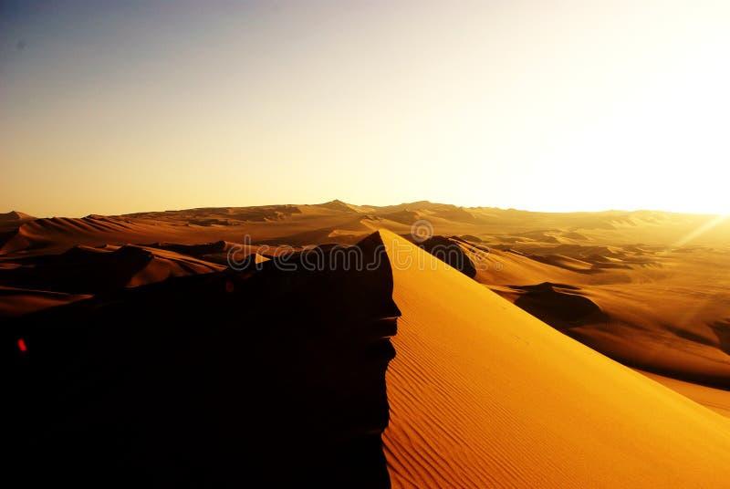 дюны перуанские стоковая фотография