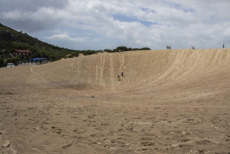 Дюны Joaquina - Florianópolis/SC - Бразилия стоковые изображения rf