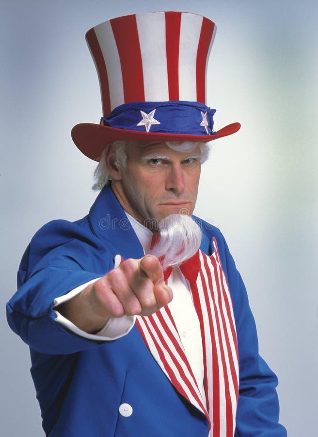 дядюшка sam хочет вас стоковая фотография rf