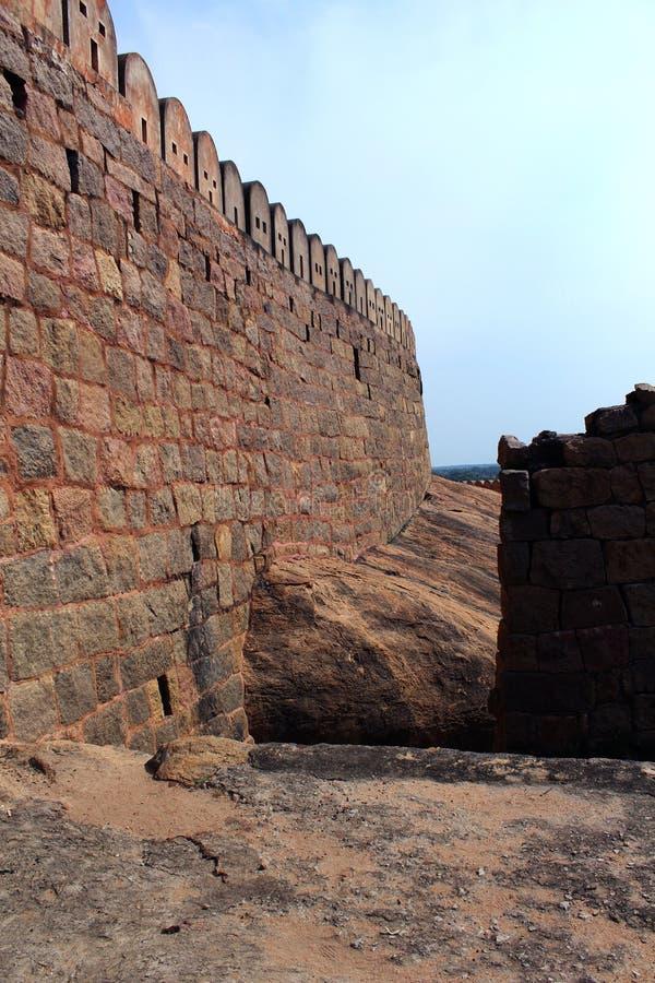 Длинная стена форта стоковое изображение rf