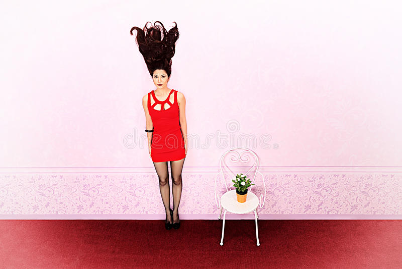 Длинние волосы вверх бесплатная иллюстрация