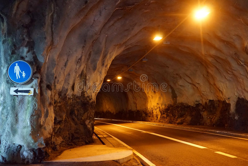 Длинное tunel стоковое изображение rf