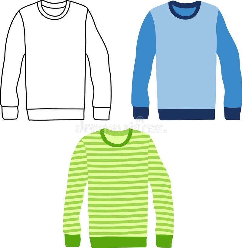 Длинные свитеры рукава иллюстрация вектора