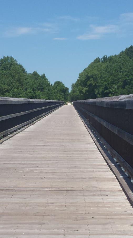Длинный высокий мост стоковые изображения