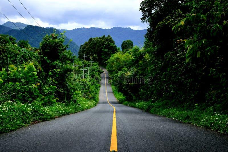 Длинный путь к холму стоковое изображение rf