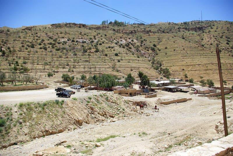 Длинный путь к Petra Иордан стоковое фото rf