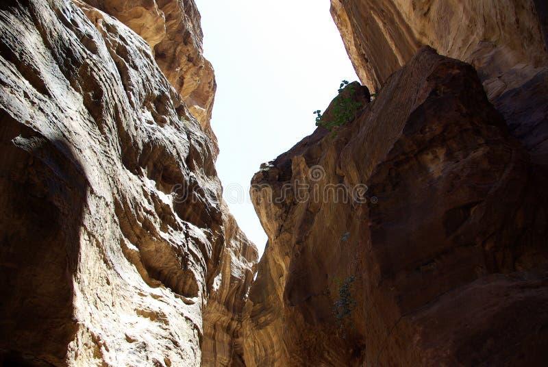Длинный путь к Petra Иордан стоковая фотография rf