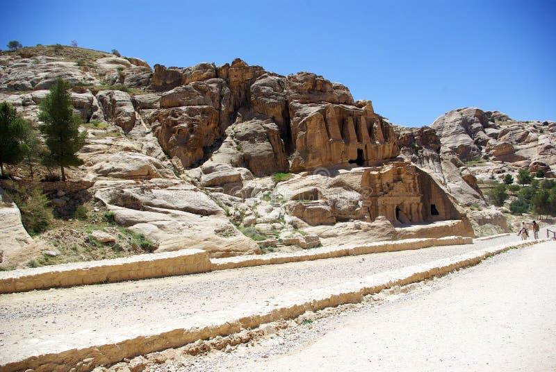 Длинный путь к Petra Иордан стоковые изображения