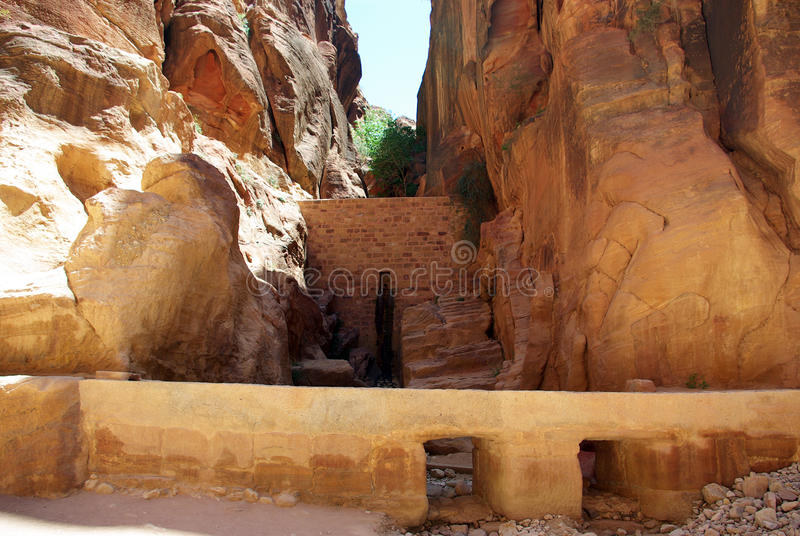 Длинный путь к Petra Иордан стоковые фото