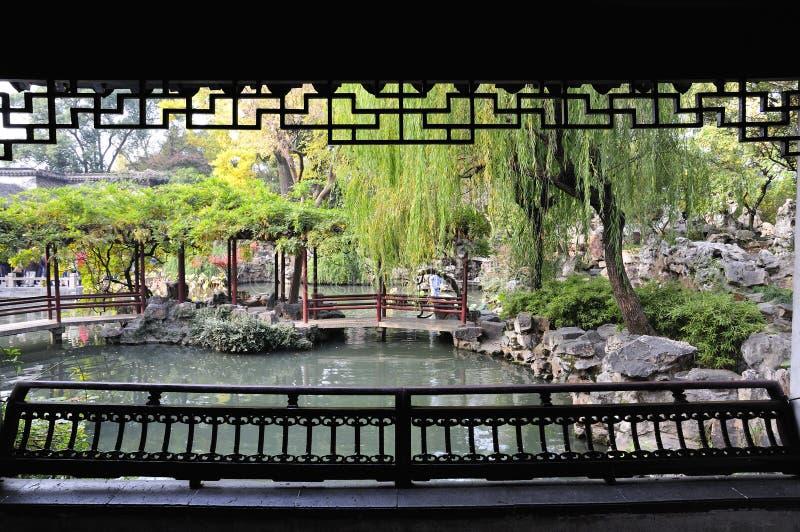 Длительный сад в Сучжоу стоковое фото