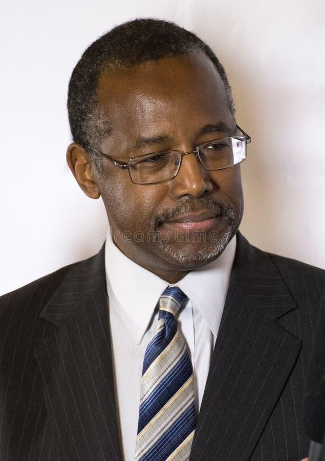 Д-р человек, метящий в президенты Бен Carson стоковое фото