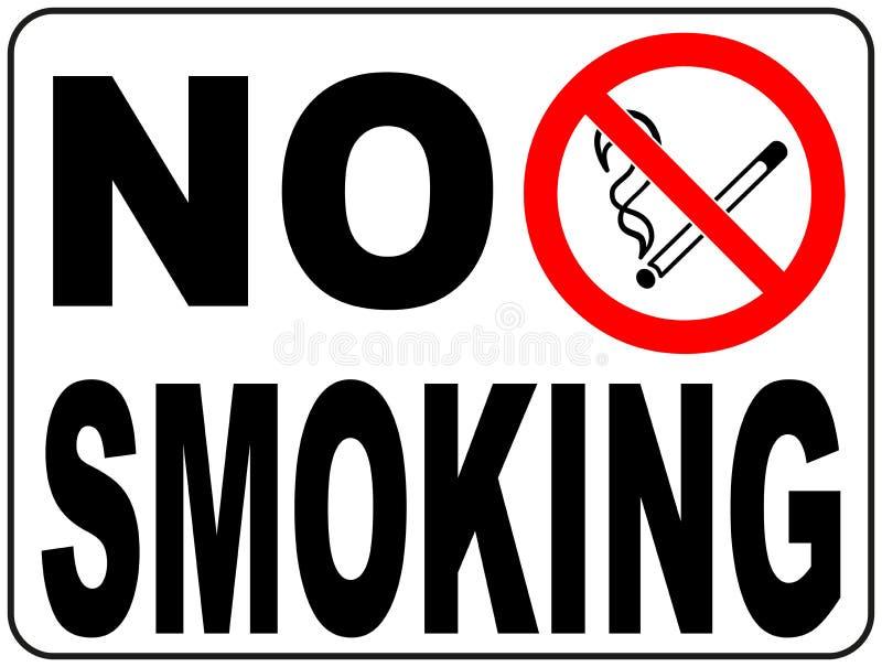 Для некурящих знак с иллюстрацией текста и изображения иллюстрация штока