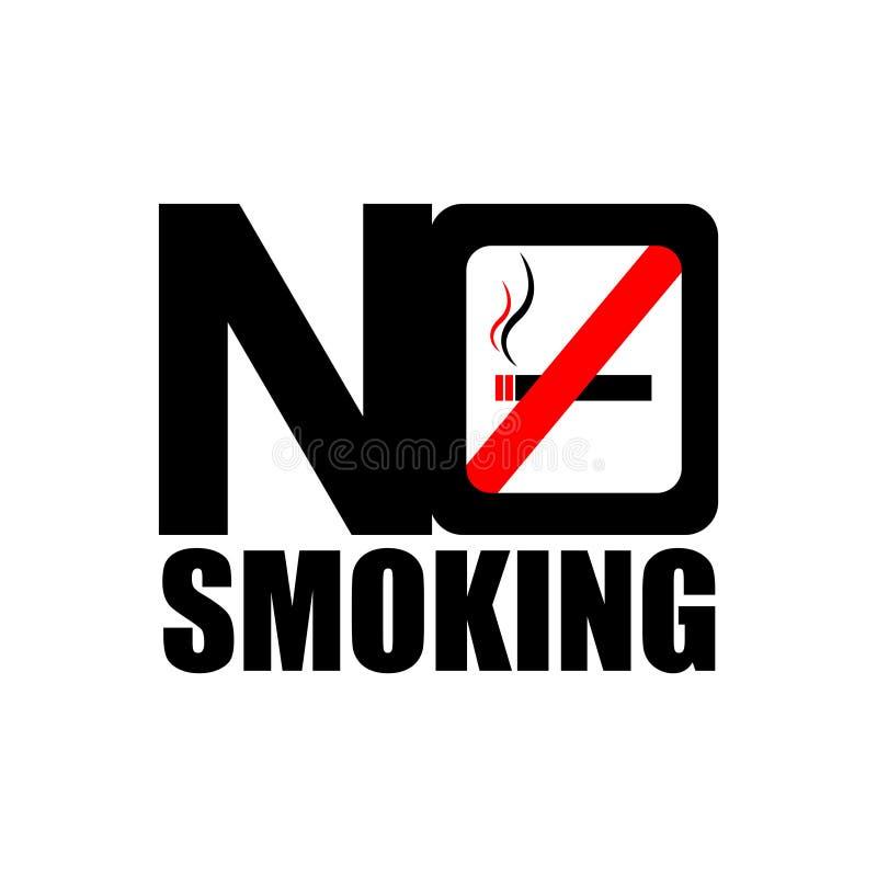 Для некурящих значок стоковое изображение