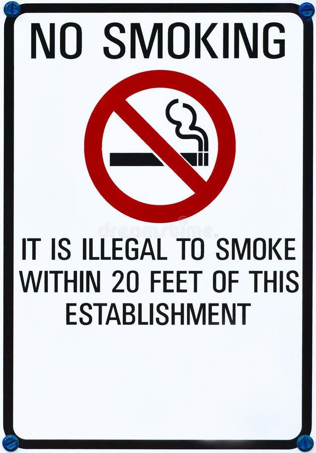 Для некурящих спойте стоковое фото rf