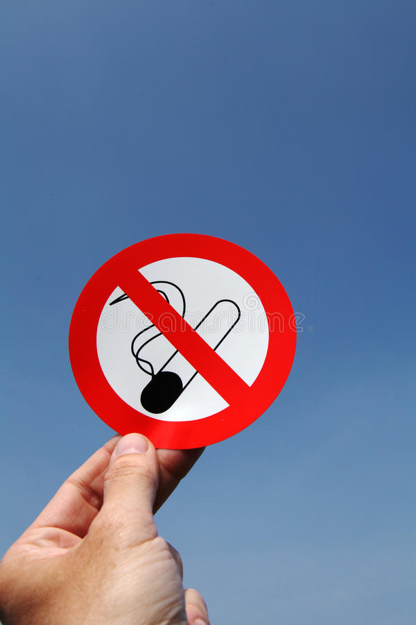 Для некурящих стоковое изображение