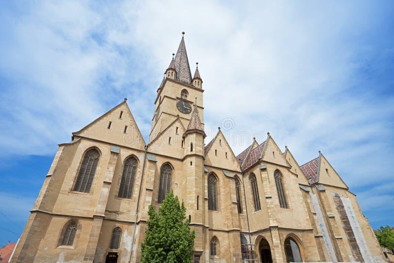 Евангелистский собор в Сибиу стоковое изображение