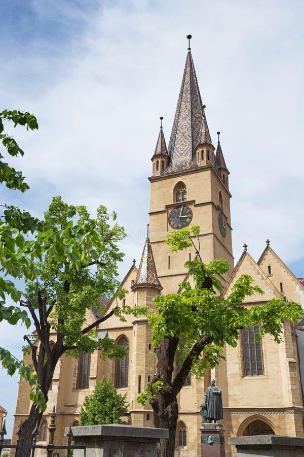 Евангелистский собор в Сибиу стоковая фотография rf