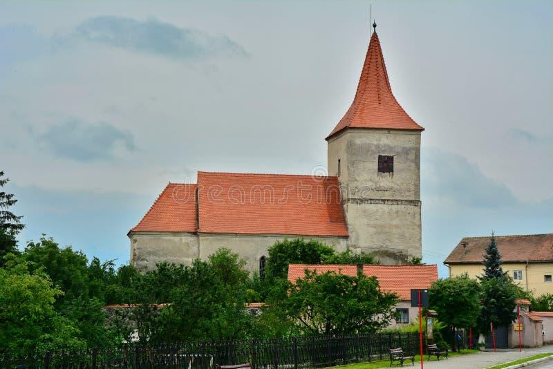 Евангелическая церковь от Avrig стоковые изображения rf