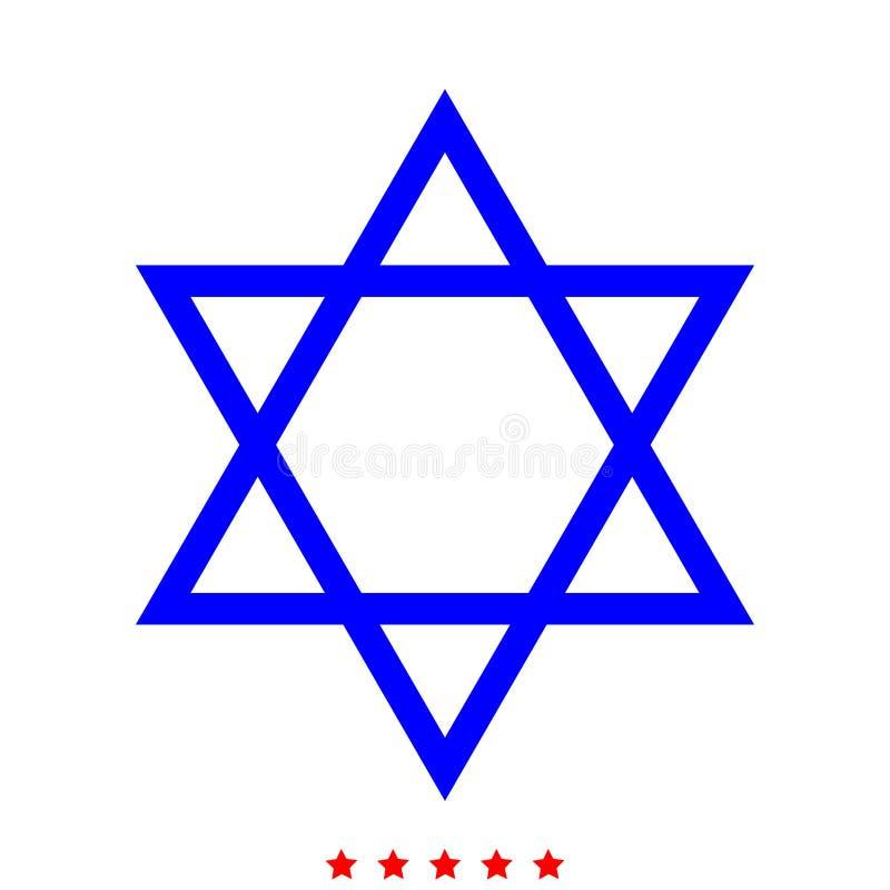 Еврейская звезда значка Дэвида цвет различный иллюстрация штока