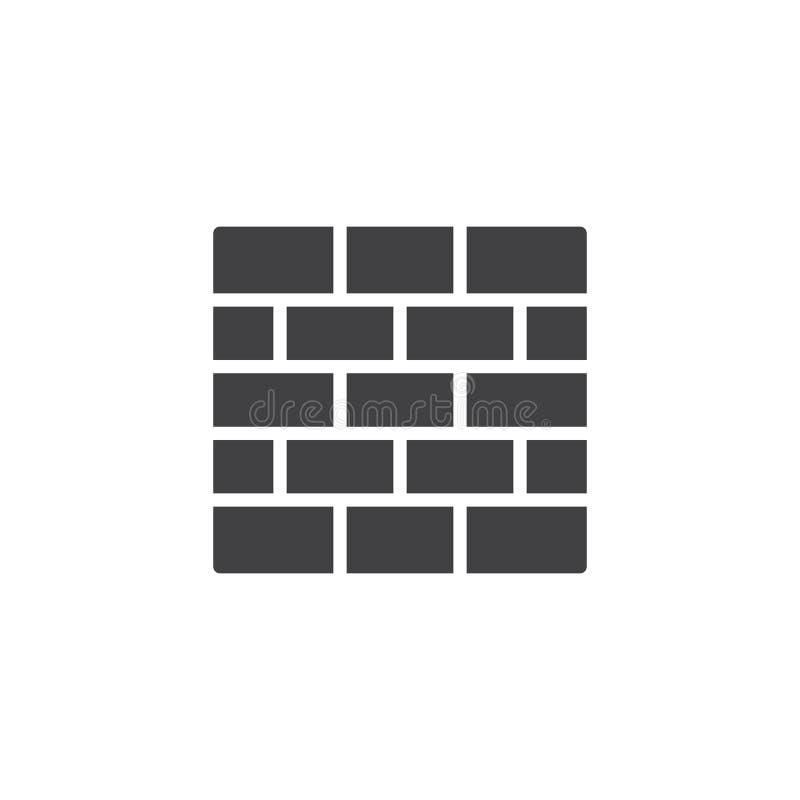 Еврейская стена значка вектора разрывов иллюстрация штока