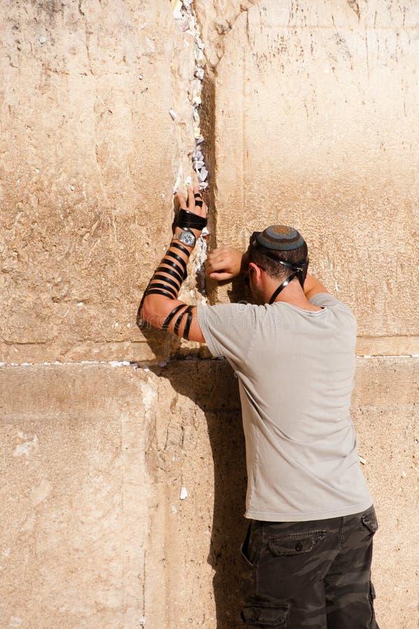 еврейская стена молитве западная стоковые изображения rf