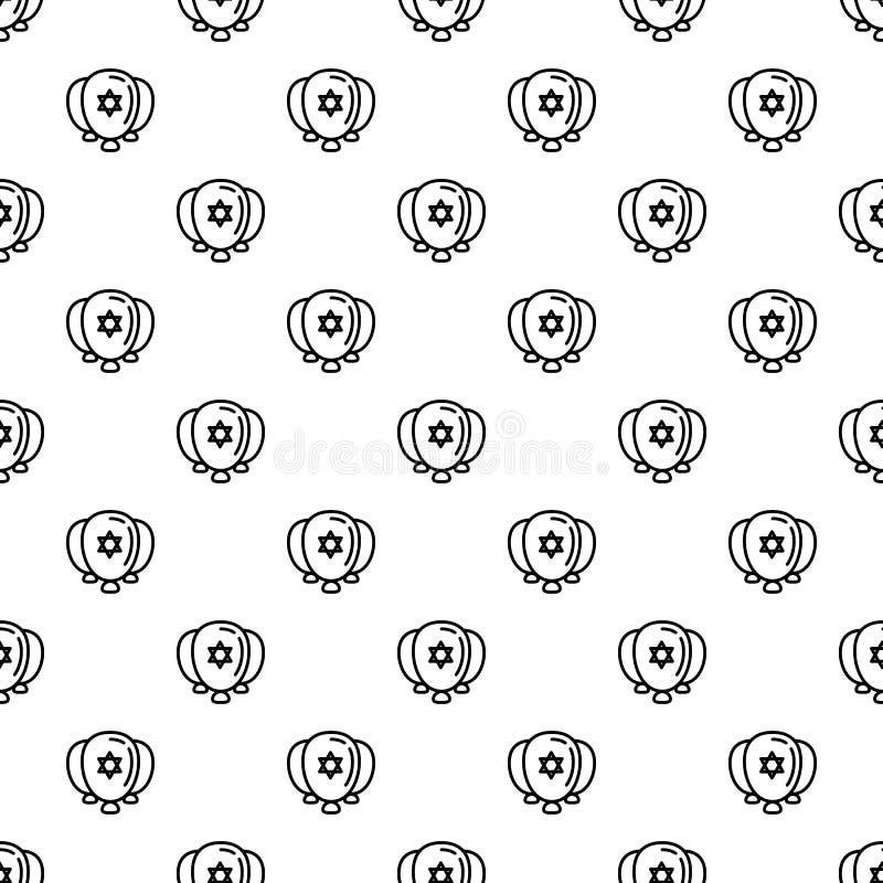 Еврейские баллоны делают по образцу безшовный вектор иллюстрация штока