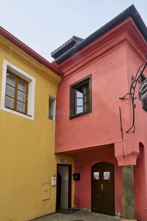 Еврейские квартал и замок, Trebic, чехия, место ЮНЕСКО стоковое изображение rf