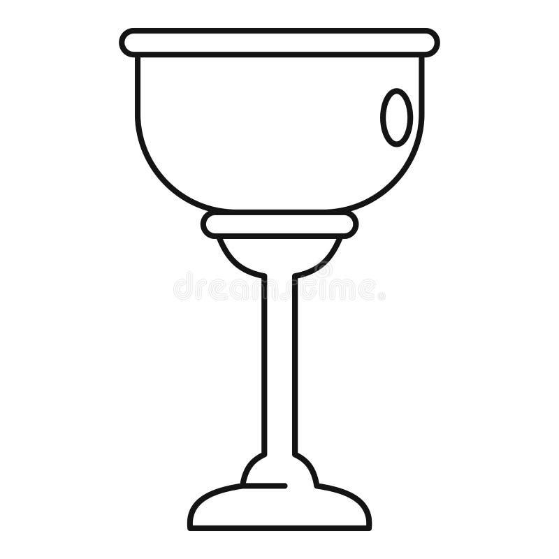 Еврейский значок чашки, стиль плана иллюстрация вектора