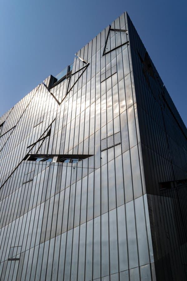 Еврейский музей Берлина, архитектурноакустического ориентира стоковое изображение rf