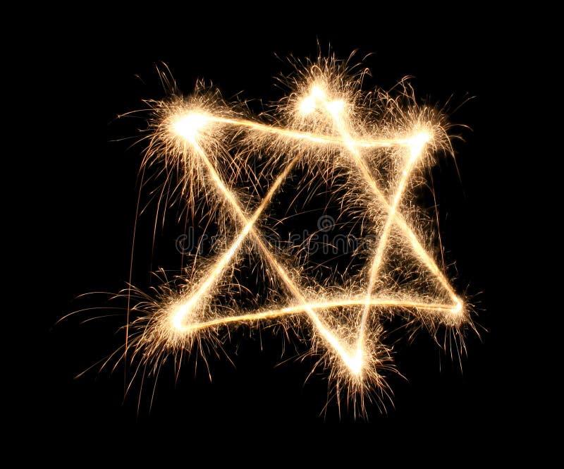 еврейский sparkler стоковое изображение rf