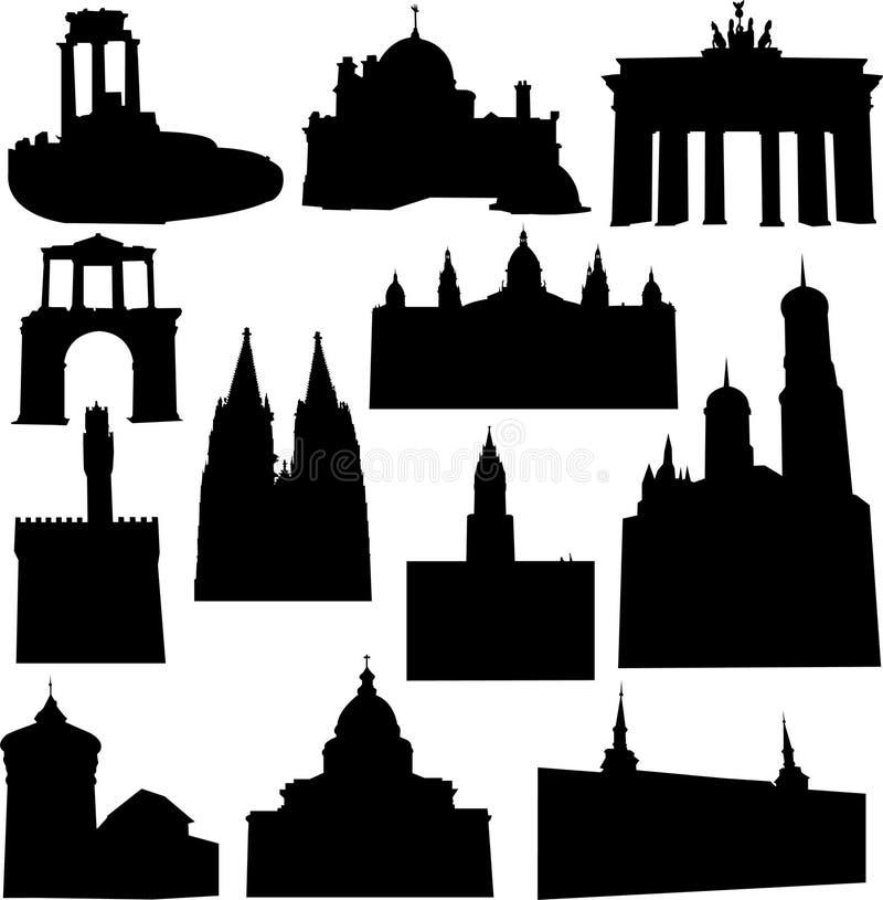 евроец конструкции иллюстрация вектора