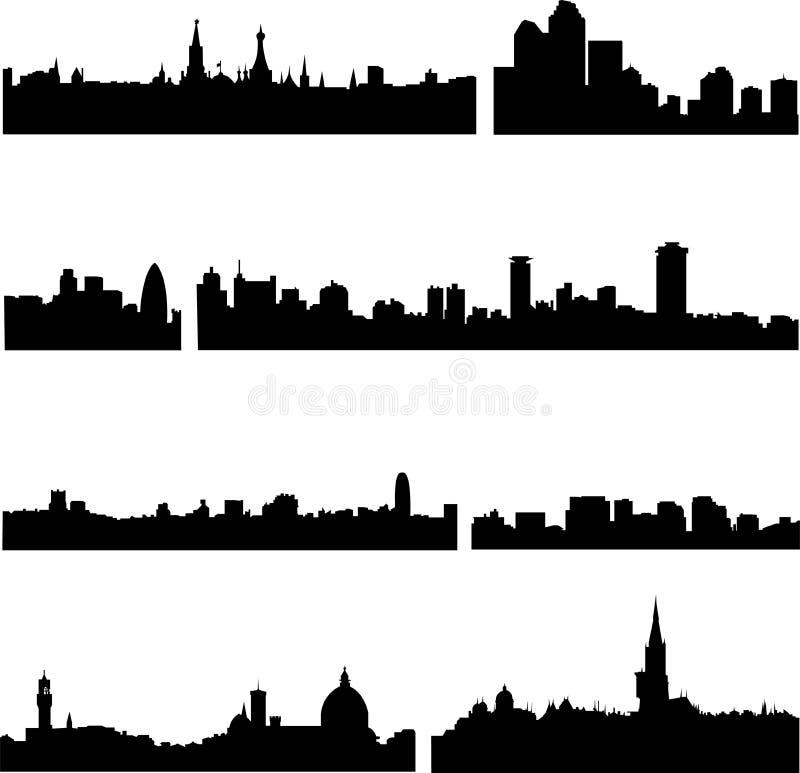 евроец стран 8 городов иллюстрация штока