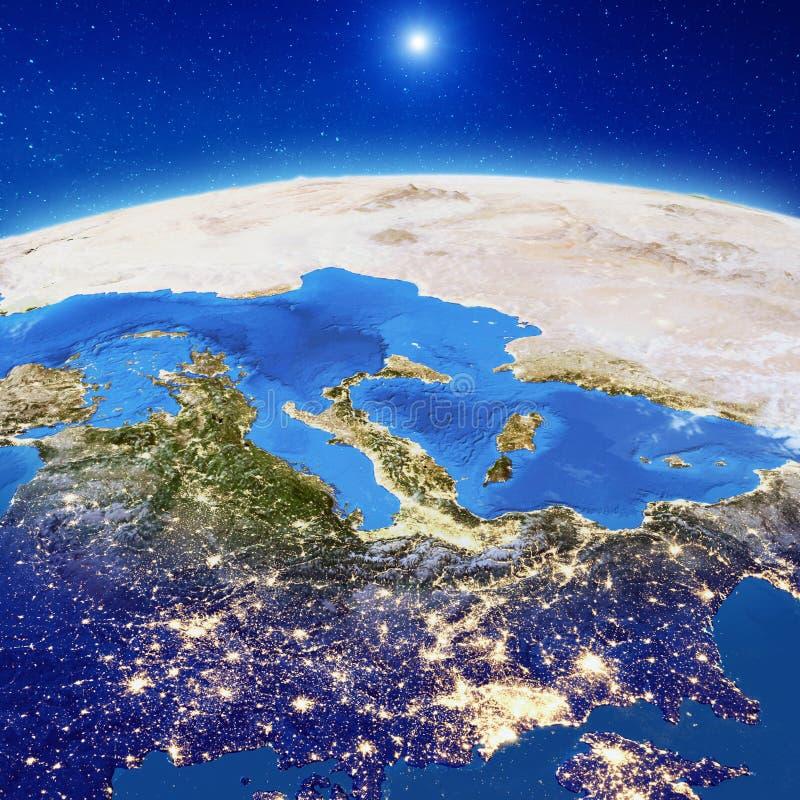 Европа вечером бесплатная иллюстрация