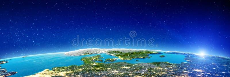 Европа вечером иллюстрация вектора