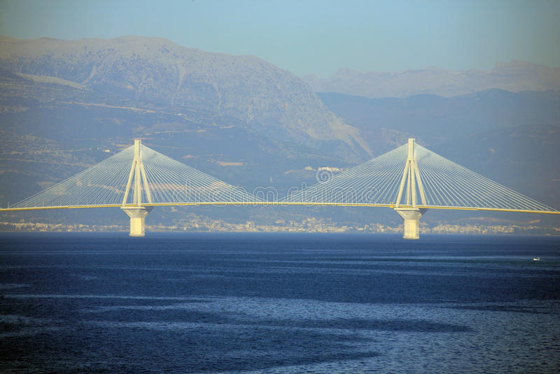 Европа, Греция, мост Rion Antirion стоковая фотография