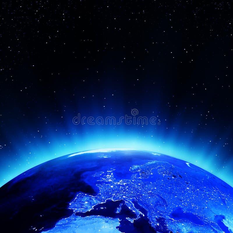 Европа на ноче бесплатная иллюстрация