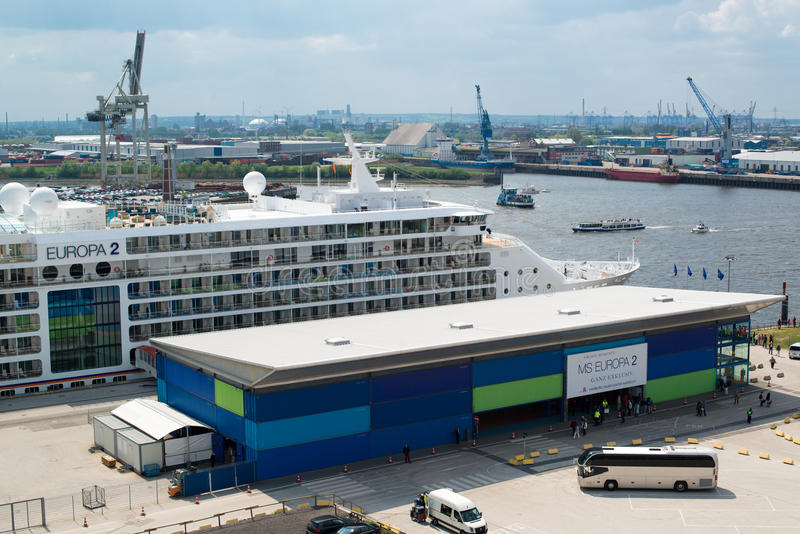 Европа 2 до одно MS самых роскошных туристических суден всегда стоковые фото