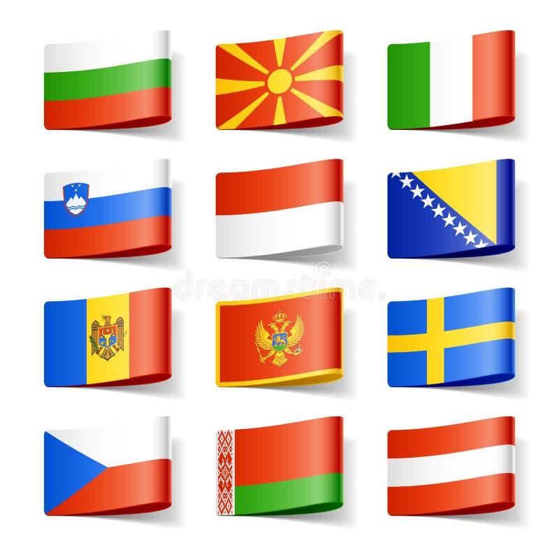 европа flags мир иллюстрация штока