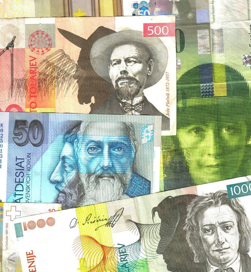 европейские деньги стоковые фото