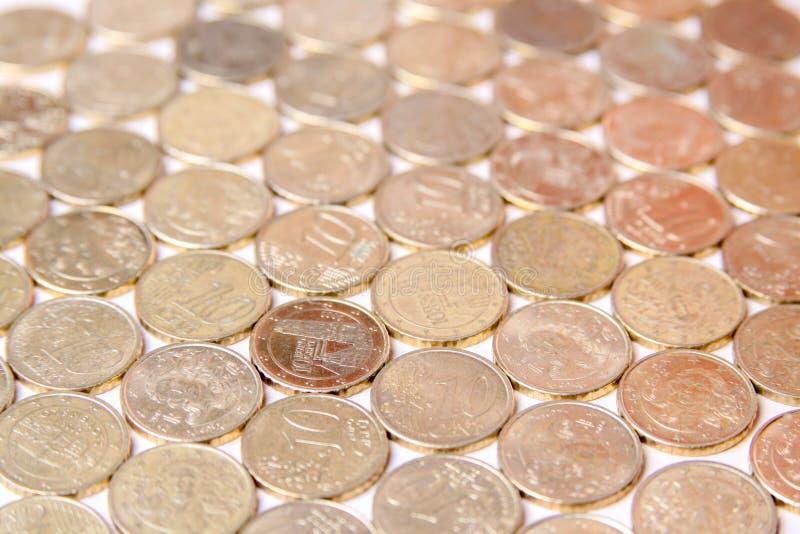 Европейские монетки евро стоковые изображения rf