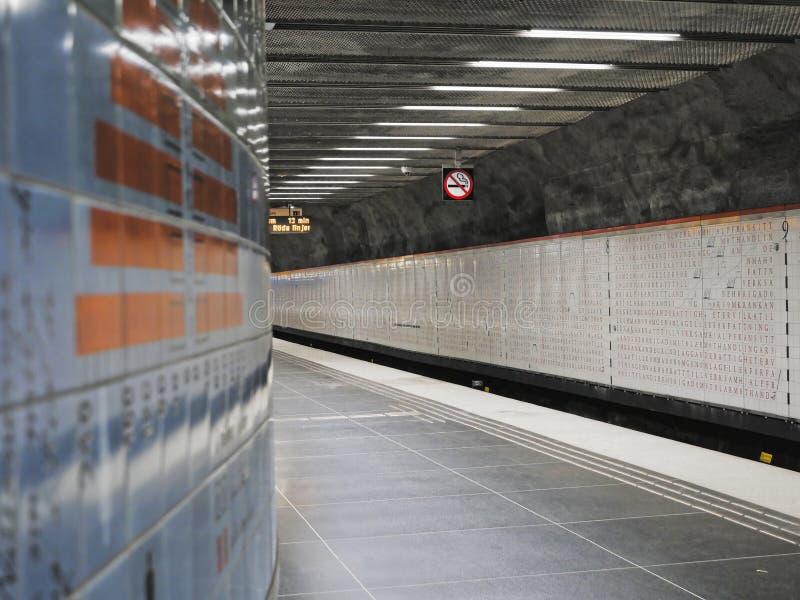 Европейские столицы Метро Стокгольма стоковая фотография rf