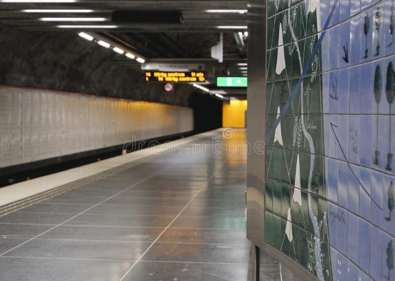 Европейские столицы Метро Стокгольма стоковое фото rf