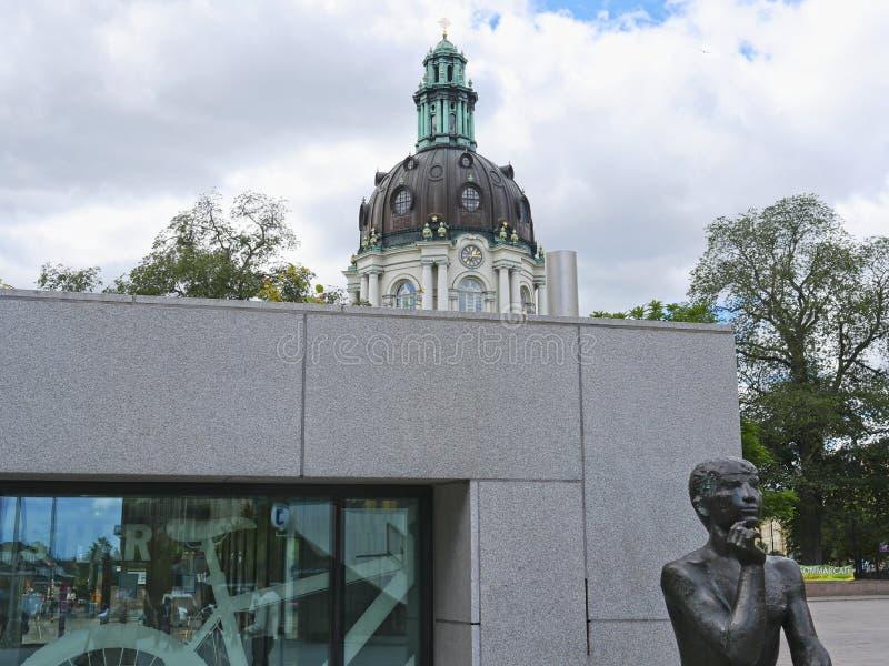 Европейские столицы Стокгольм современный и старинные здания стоковое фото