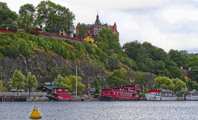 Европейские столицы Стокгольм современный и старинные здания стоковое фото rf