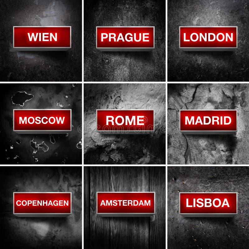Европейские столицы стоковые изображения