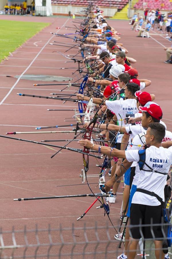 Европейские чемпионаты Archery молодости в Бухаресте стоковая фотография