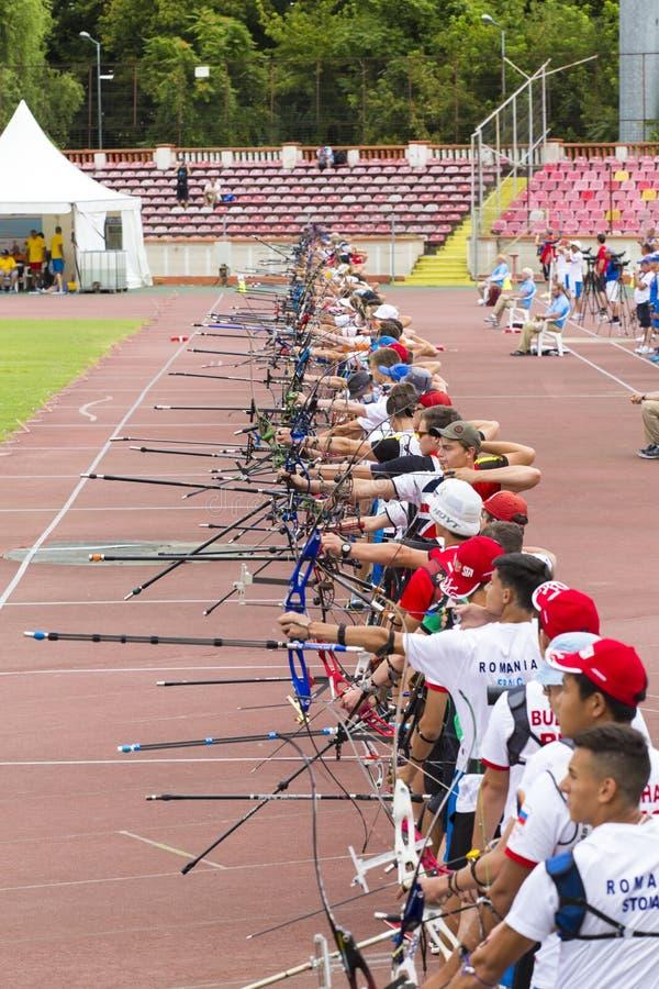 Европейские чемпионаты Archery молодости стоковая фотография