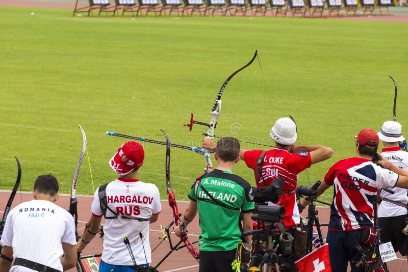Европейские чемпионаты Archery молодости стоковое фото rf