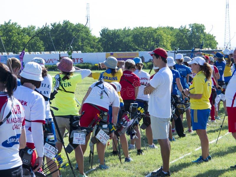 Европейские чемпионаты archery, 2014 стоковая фотография rf