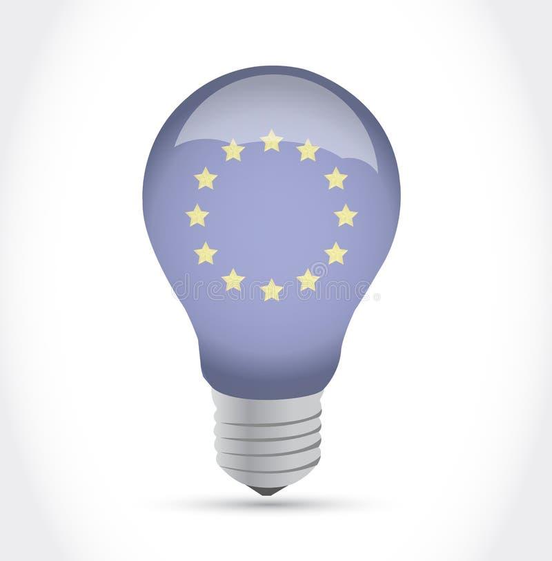 Download Европейский дизайн иллюстрации электрической лампочки идеи флага Иллюстрация штока - иллюстрации насчитывающей соединение, свет: 33729546